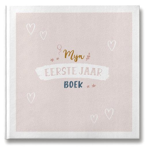 Maan Amsterdam  MAAN AMSTERDAM - Mijn eerste jaar babyboek Roze