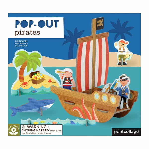 PETITCOLLAGE - Pop-out 3D puzzel Piraten