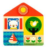 Petitcollage PETITCOLLAGE - 2 in 1 houten puzzel Dag & Nacht