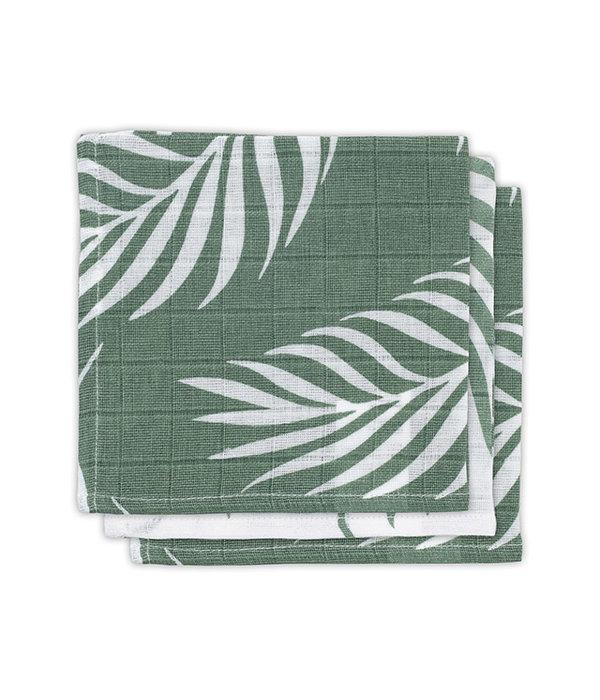 Jollein JOLLEIN - Monddoekje hydrofiel Nature Green 3 pack