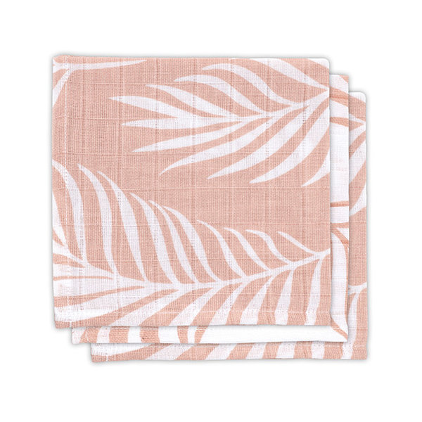 JOLLEIN - Monddoekje hydrofiel Nature Pink 3 pack