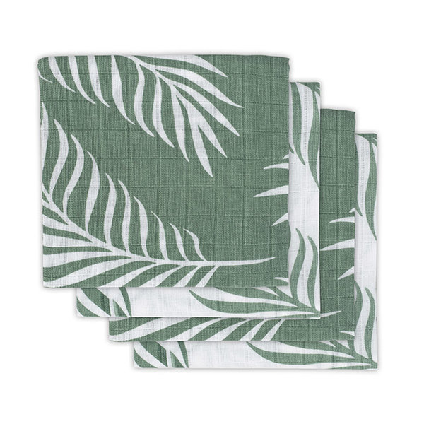 JOLLEIN - Hydrofiele doeken 4 pack 70x70  Nature Green