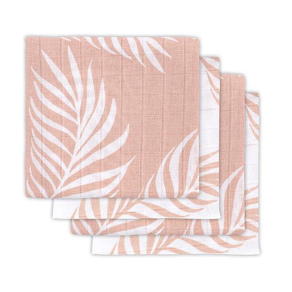 JOLLEIN - Hydrofiele doeken 4 pack 70x70  Nature Pink