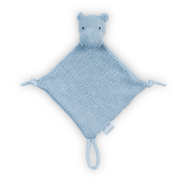 Jollein - Speendoekje  soft knit Hippo Soft Blue