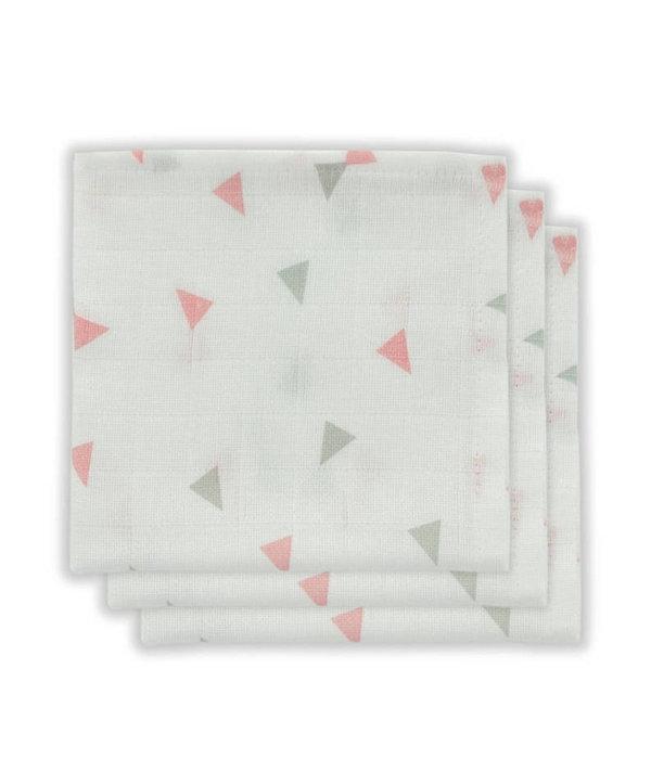 Little Lemonade Little Lemonade - Monddoekje hydrofiel triangle Grey/Pink 3pack