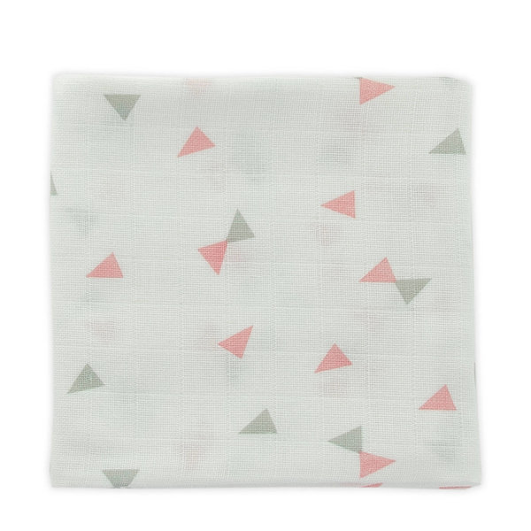 Little Lemonade - Hydrofiele doeken 70 x 70 triangle Grey/Pink 3pack