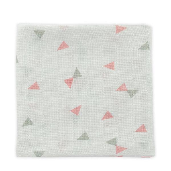 Little Lemonade - Hydrofiele doeken 70 x 70 triangle Grey/Pink 3pack