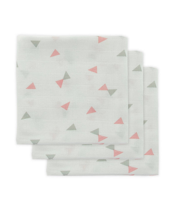 Little Lemonade Little Lemonade - Hydrofiele doeken 70 x 70 triangle Grey/Pink 3pack