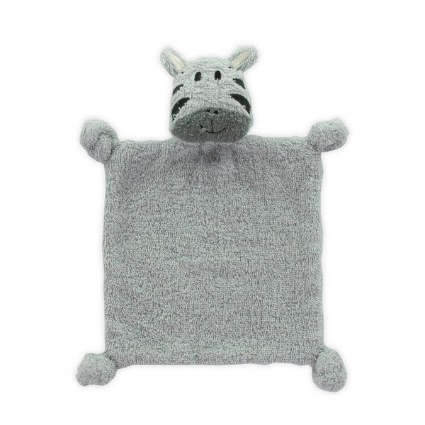Little Lemonade - Knuffeldoekje Zebra Soft Grey