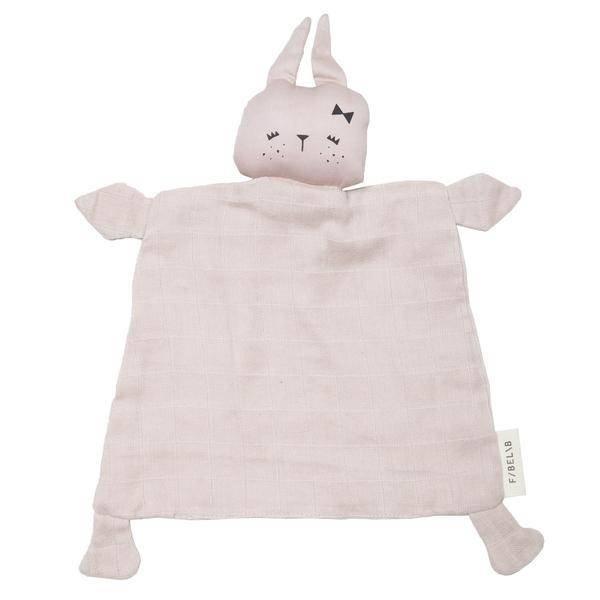 FABELAB - Knuffeldoekje konijn roze