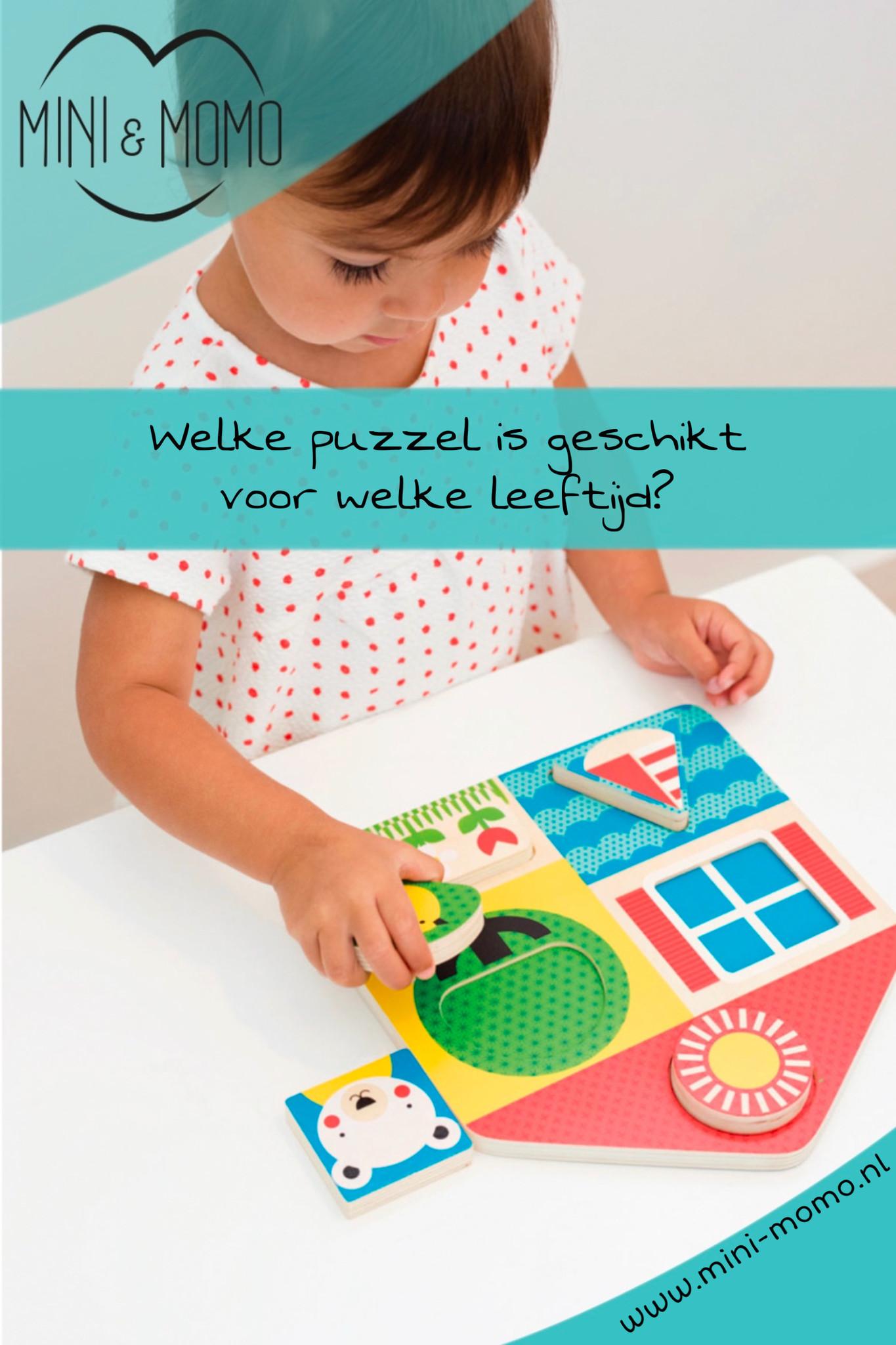 Welke puzzel is geschikt voor welke leeftijd?