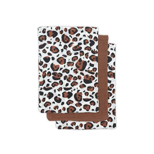 JOLLEIN - Hydrofiele washandjes 3 pack Leopard