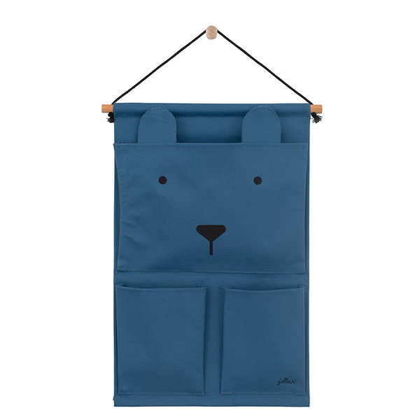 JOLLEIN - Canvas wand organizer animal club Blauw