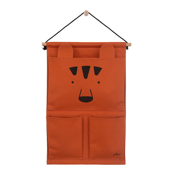 JOLLEIN - Canvas wand organizer animal club Roest