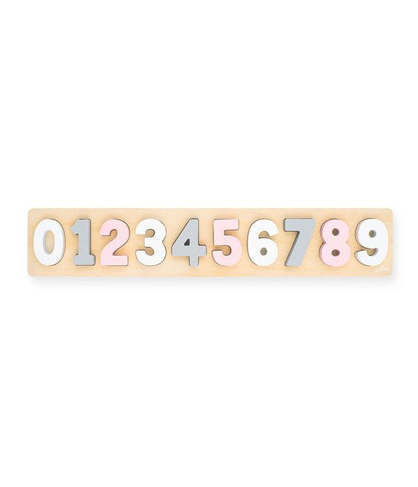 Jollein Jollein - Houten cijfer puzzel Roze