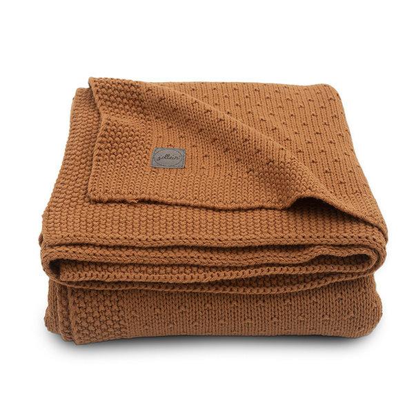 JOLLEIN - Gebreide deken Bliss Knit Caramel 100x150