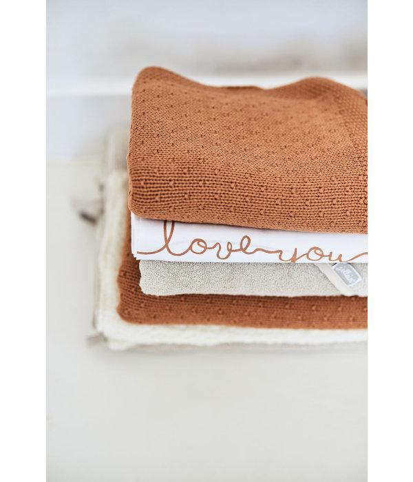 Jollein JOLLEIN - Gebreide deken Bliss Knit Caramel 100x150