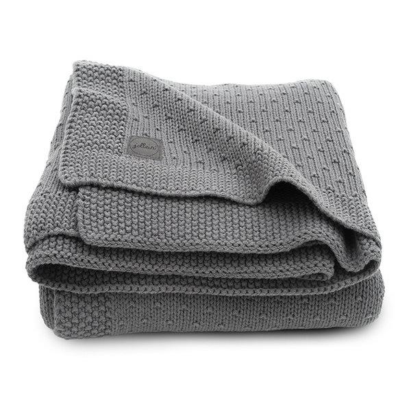 JOLLEIN - Gebreide deken Bliss Knit Grijs 100x150