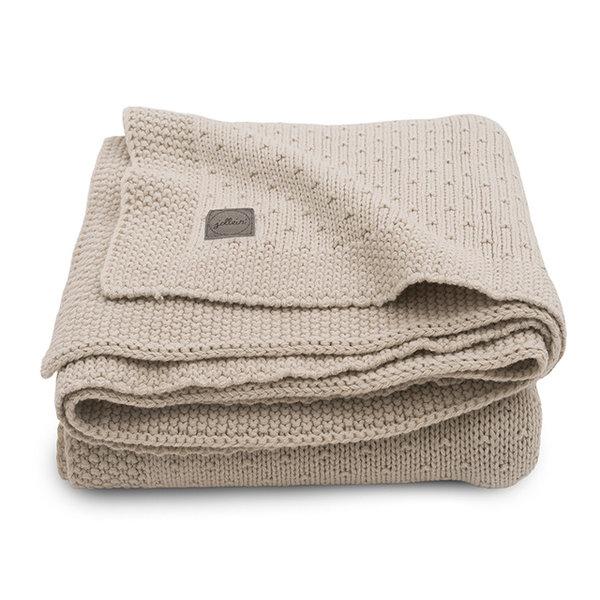JOLLEIN - Gebreide deken Bliss Knit Nougat 100x150