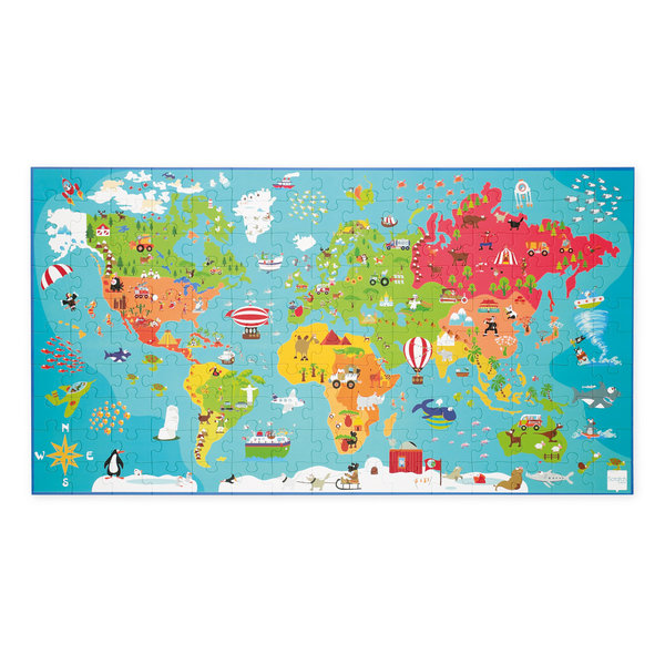 Scratch - Puzzel Wereldkaart XXL