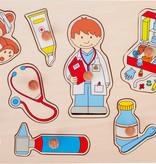 Goki Goki - Houten puzzel Bij de Dokter