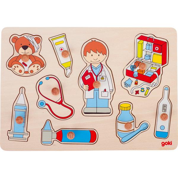 Goki - Houten puzzel Bij de Dokter