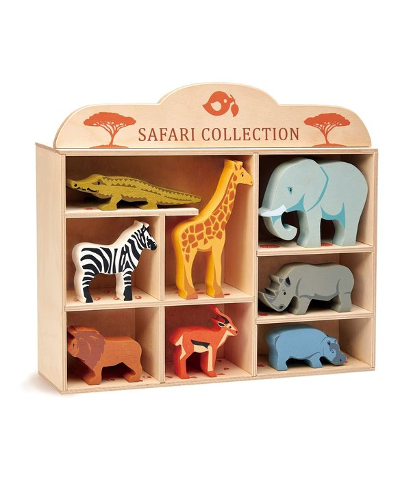 Tender leaf Toys Tender Leaf - Houten Safari dieren set