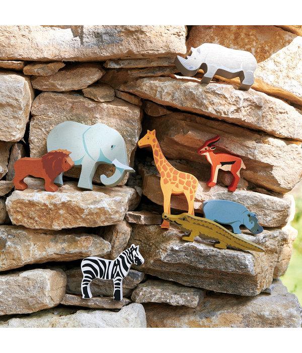Tender leaf Toys Tender Leaf - Houten dieren - Nijlpaard