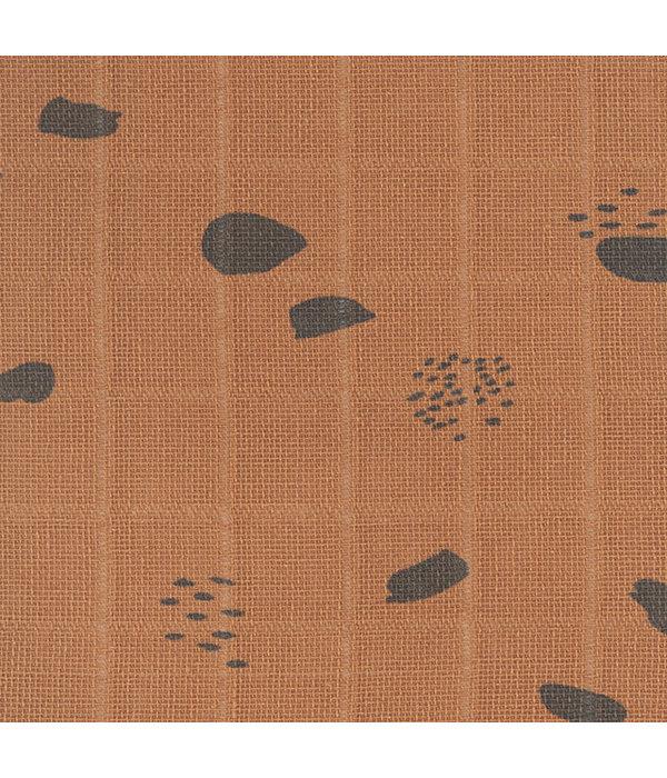 Jollein JOLLEIN - Monddoekje hydrofiel Spots Caramel 3pack - Copy
