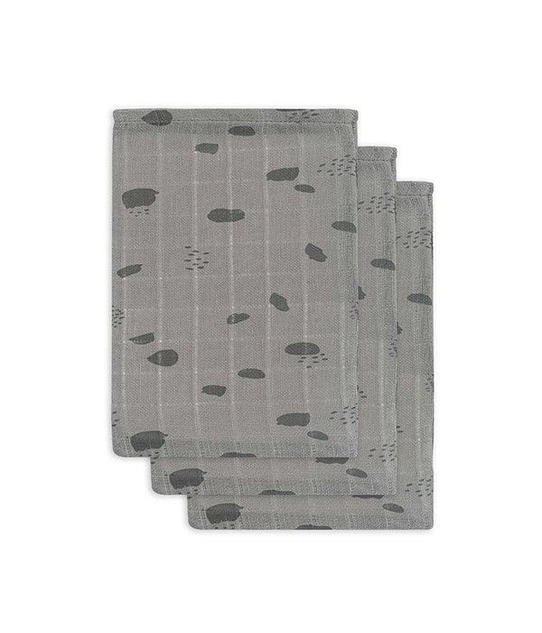 Jollein JOLLEIN - Hydrofiele washandjes spots Grijs 3 pack