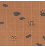 Jollein JOLLEIN - Hydrofiele washandjes spots Caramel 3 pack