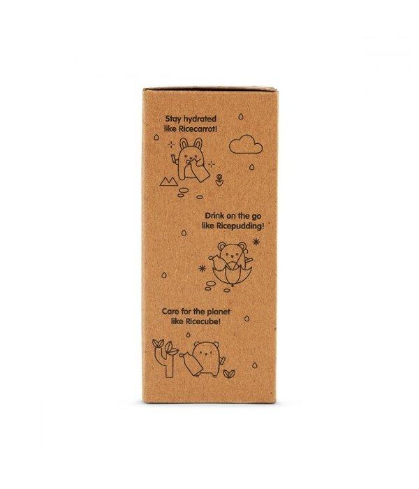 Noodoll Noodoll - Drinkfles Ricecarrot Roze