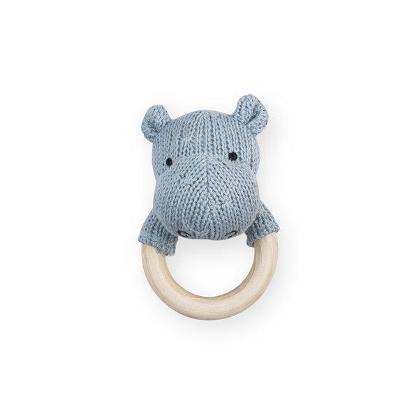 Jollein - Bijtring rammelaar Hippo soft blue