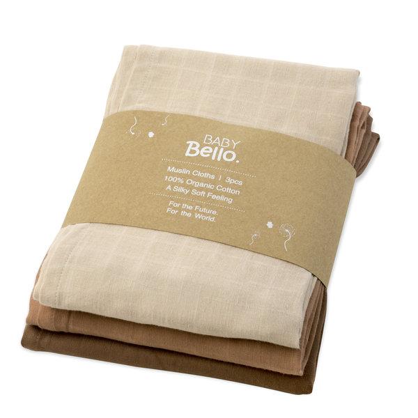 Baby Bello - Hydrofiele doeken set van 3 Desert Rose