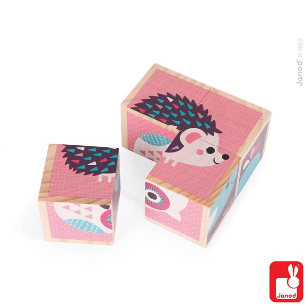 Janod - Blokken baby dieren  4 stuks