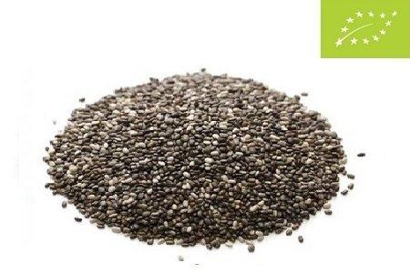 Las semillas de chía orgánica
