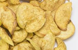 Chips de manzana y canela