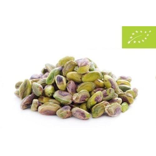 Organic pistachio nuts peeled