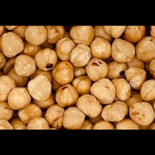 Geblancheerde hazelnoten  gebrand zonder zout