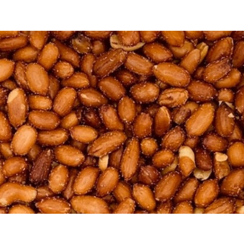 Arachidi  con la pelle tostate