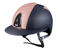 KEP Italia textile blue with star pink glitter front and back - rose golden frame - polo visor
