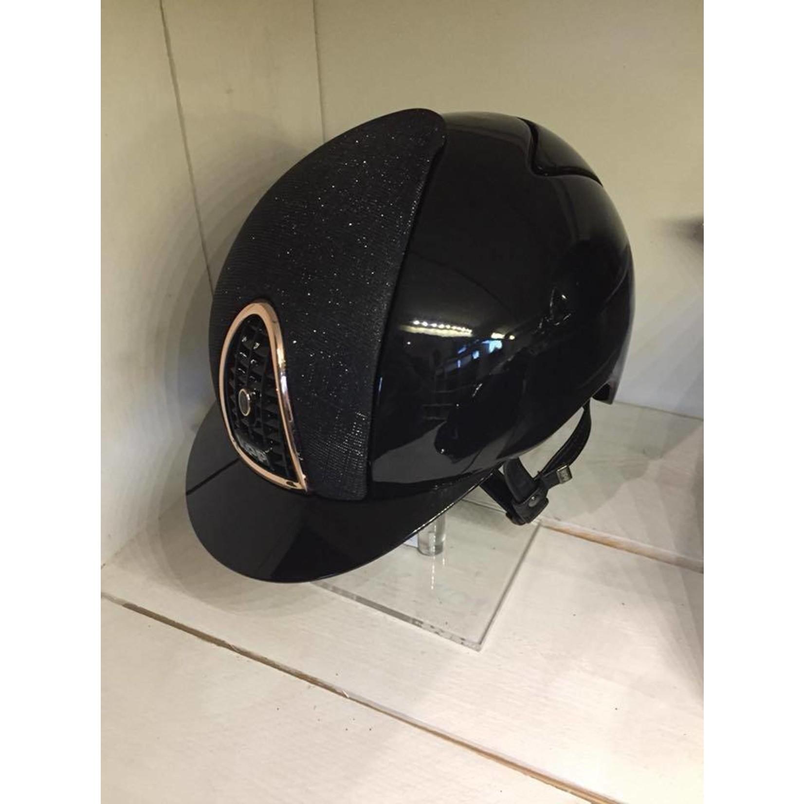 KEP Italia polish black with galassia front - rosé golden frame