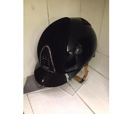 KEP Italia polish black with velvet front and back - cognac chinstrap