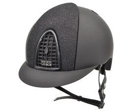 KEP Italia Cromo Textile Zwart. Voorzijde Star Glitter Zwart. Metal Diamond Zwart frame en button.