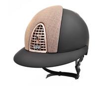 KEP Italia cromo textile black front and back galassia pink - rose golden frame - polo visor