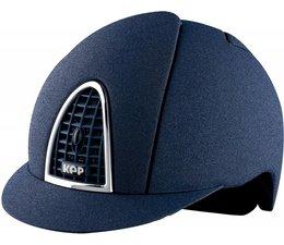 Kep Italia Mica blauw met grill in kleur helm
