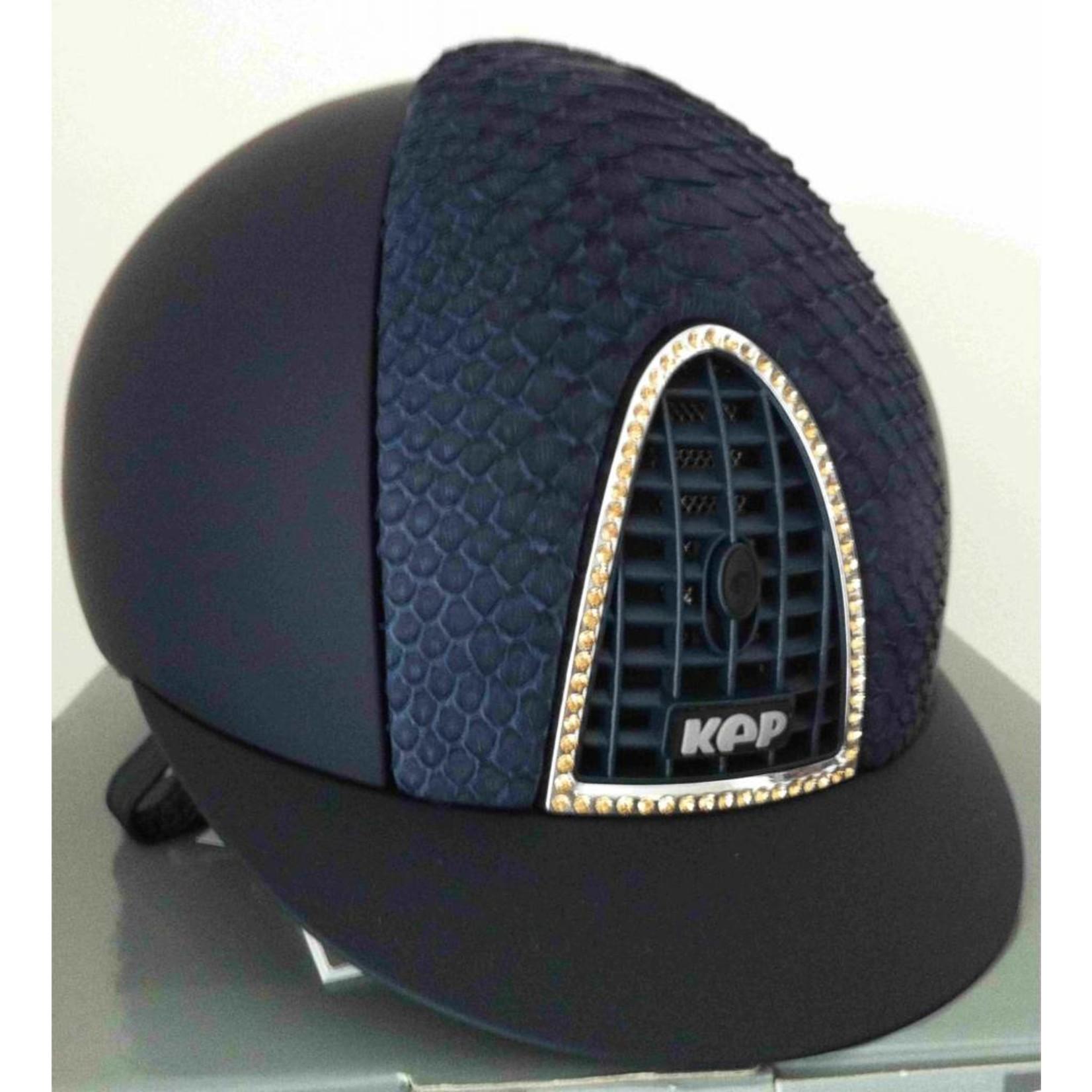 KEP Italia textile blue with pyhton blue front - swarovski frame