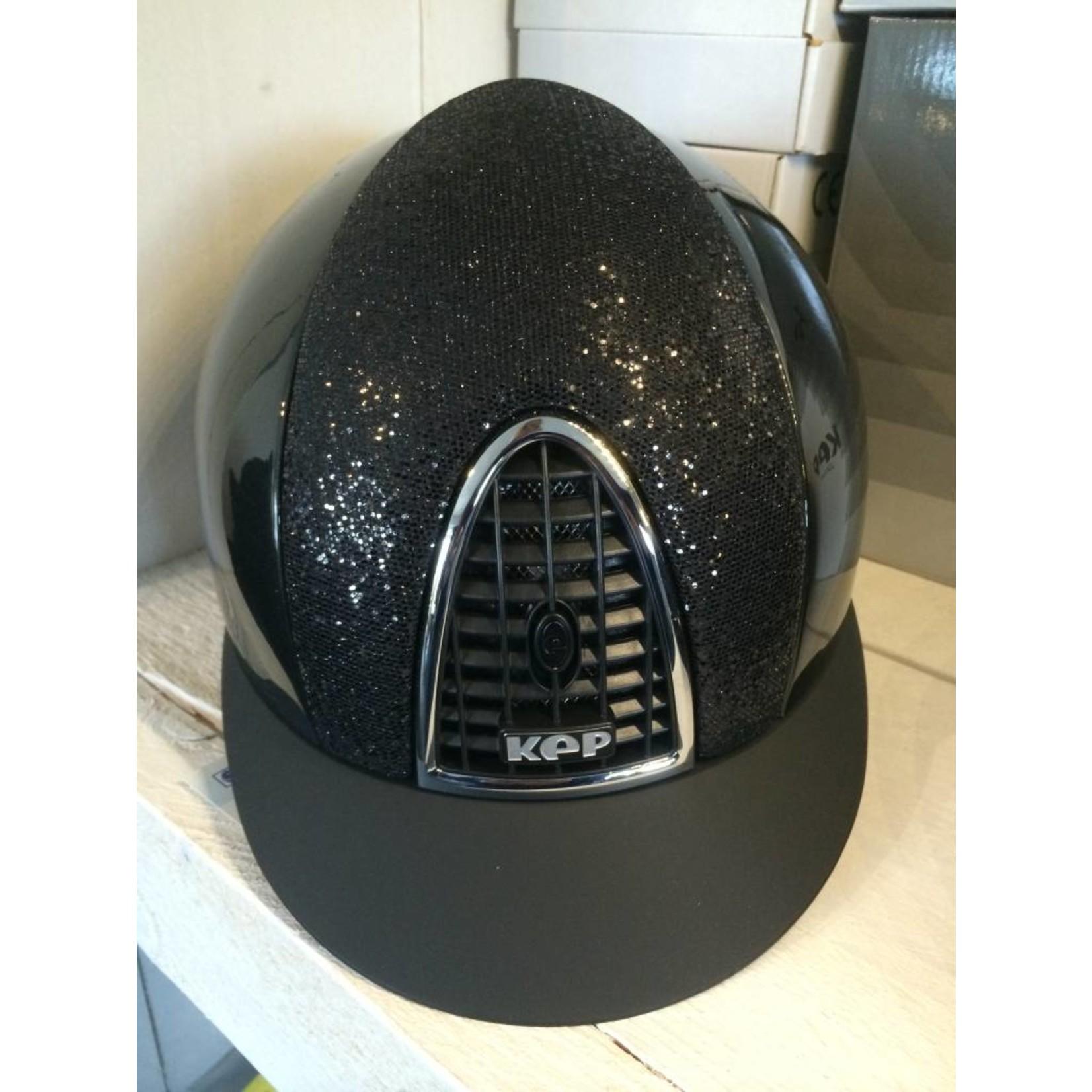KEP Italia shine black with glitter front