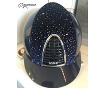 KEP Italia polish blue sparkling front - cognac chinstrap