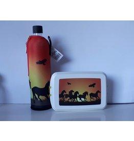 Biodora Lunchbox & Flasche Pferde